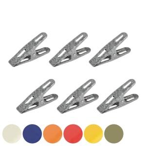 クリップ ダルトン DULTON COLORED CLIPS A 6個入 カラー ( 文房具 文具 ステーショナリー 書類 整理 袋どめ デスク収納 事務用品 オフ
