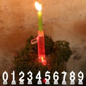 キャンドル LED 数字 ナンバーキャンドル 誕生日 0 1 2 3 4 5 6 7 8 9 ダルトン DULTON ( ナンバーキャンドル キャンドルホルダー LEDラ