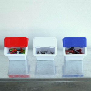 小物収納 幅8.5×奥行11×高さ12.4cm MINI STORAGE BOX ダルトン DULTON ( 小物ケース 小物入れ 収納ケース スタッキング 前開き 収納