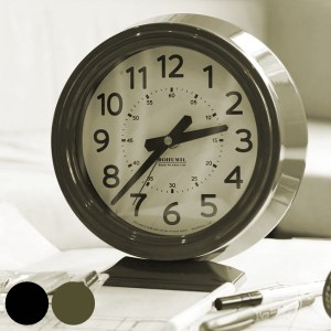 置き時計 ダルトン DULTON ボフミル クロック 時計 おしゃれ ( 置時計 アナログ 大きい 連続秒針 リビング シンプル インテリア クール
