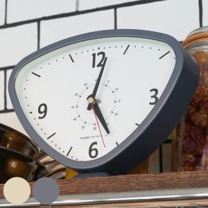置き時計 ダルトン DULTON ライナルド クロック 逆三角形 時計 おしゃれ ( 置時計 アナログ 大きい 連続秒針 リビング シンプル インテ