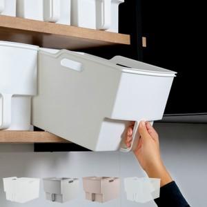 キッチン収納ケース 吊り戸棚ボックスワイド 幅24cm ( 収納ボックス 整理ケース 取っ手付き 戸棚収納 収納BOX 収納ストッカー キッチン