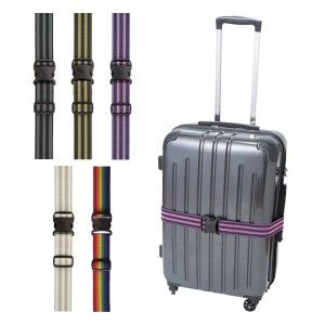 ストレッチフィットベルト ワンタッチ式 スーツケースベルト ( ベルト バンド キャリーバッグベルト スーツケースバンド 伸びるタイプ
