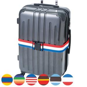 トランクベルト カラフル 国旗柄 スーツケースベルト ワンタッチ式 調整可能 ( キャリーバッグベルト スーツケースバンド 旅行グッ