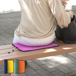 座布団 クッション 折りたたみ アウトドア コンパクト リバーシブル 1人用 ウェットスーツ素材 ( レジャークッション 敷物 アウトドアク