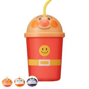 ストローカップ アンパンマン プラスチック 子供用 コップ キャラクター ( 蓋付き カップ ストロー タンブラー ストロー付き フタ付き