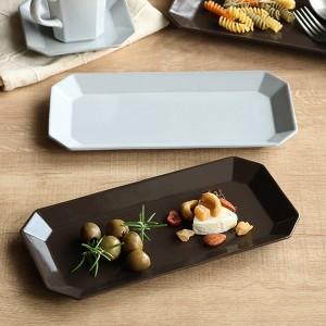 プレート 24cm ロングプレート デプレ 皿 食器 陶器 日本製 ( 食洗機対応 電子レンジ対応 ワンプレート 長皿 くすみカラー 無地 ケーキ