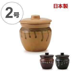 漬物容器 ミニカメ 2号 陶器製 日本製 ( 漬物樽 つけもの容器 漬け物容器 ぬか漬け 漬けもの 漬け物 漬物器 かめ 壺 ミニ壺 小壺 保