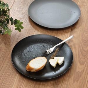 プレート 27cm クラフトアート 丸皿 パスタ皿 スレート風 合成漆器 食器 皿 日本製 ( 食洗機対応 大皿 皿 電子レンジ対応 お皿 割れにく