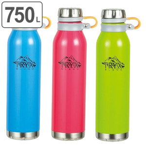 水筒 ステンレス 直飲み 750ml トライエックス ダイレクトボトル ( 保温 保冷 マグボトル ステンレスボトル 750 ステンレス製 シンプル
