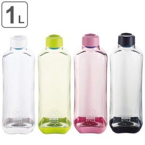 水筒 プラスチック ブロックスタイル アクアボトル BPAフリー 1000ml ウォーターボトル ( ボトル 目盛り付き クリア プラボトル スポー