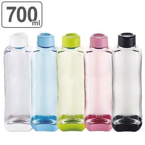 水筒 プラスチック ブロックスタイル アクアボトル BPAフリー 700ml ウォーターボトル ( ボトル 目盛り付き クリア プラボトル マグボト