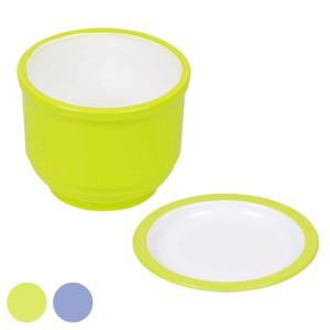 そば猪口 彩創 薬味皿付き 食器 和食器 プラスチック 日本製 ( そば つゆ 薬味 蕎麦 ざる蕎麦 汁 皿 うつわ )