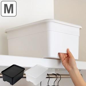 収納ボックス M 幅29×奥行40×高さ19cm オンボックス フタ付き プラスチック 日本製 ( キッチンストッカー ストッカー 収納ケース 収納