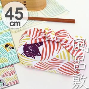 風呂敷 中巾 チーフ こはれ ねこととり 45cm ふろしき ナフキン ランチクロス 綿100% ( 綿 包み お弁当包み 猫 ねこ ネコ グッ