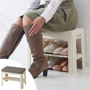 玄関 ベンチ エントランスベンチ ( シューズラック 収納 スツール おしゃれ 椅子 靴 ブーツ 玄関ベンチ 玄関収納 くつ収納 ラ