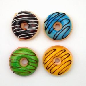 食品サンプル ドーナツ カラフル マグネット付き 4個セット (小さめサイズ)