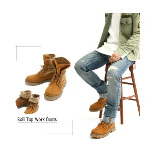 ワークブーツ マウンテンブーツ 靴 くつ メンズ シューズ(キャメルブラウン茶) glbb104