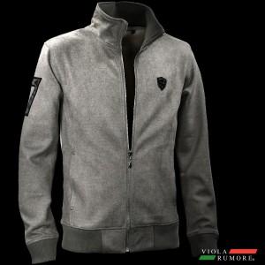 VIOLA rumore ヴィオラ ビオラ ジップアップジャケット スタンドカラー スウェード メンズ シンプル(チャコールグレー灰) 91147