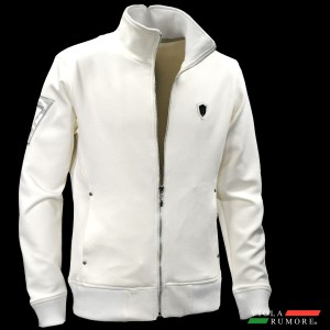 VIOLA rumore ヴィオラ ビオラ ジップアップジャケット スタンドカラー スウェード メンズ シンプル(ホワイト白) 91147