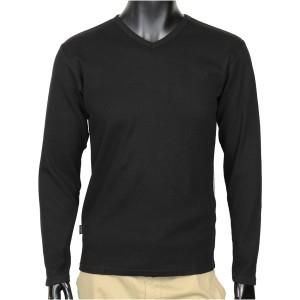 AVIREX Tシャツ 長袖 デイリー Vネック ワッフル [ ブラック / XLサイズ ][6123208009xl]