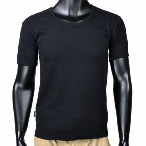 AVIREX Tシャツ 半袖 Uネック 無地 デイリー [ ブラック / XLサイズ ][6143506009xl]