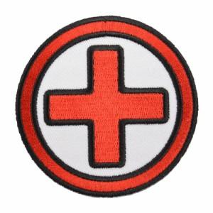 ミリタリーパッチ 十字架 Medic アイロンシート付[p5455]