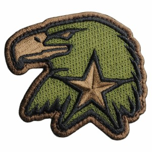 MIL-SPEC MONKEY ミリタリーパッチ Eagle Star EMB ベルクロ [ フォレスト ][pa00223for]