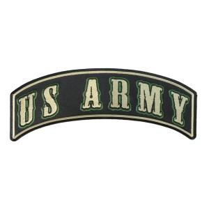 ミリタリーパッチ US ARMY ロッカー グリーン [ Lサイズ ][pr2553]