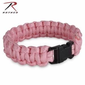 ROTHCO パラコードブレスレット 樹脂製バックル [ ピンク / Mサイズ ][ro927m]