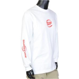 SUREFIRE Tシャツ 長袖 ロゴ入り [ ホワイト / Sサイズ ][411603]
