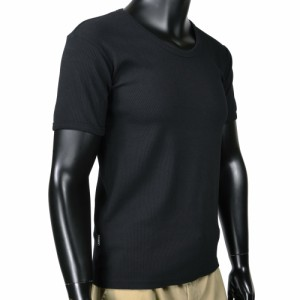 AVIREX Tシャツ 半袖 Uネック 無地 デイリー [ ブラック / Sサイズ ][6143506009s]