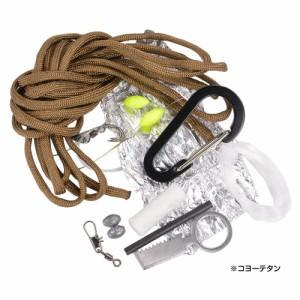 パラコードキーホルダー 手榴弾型 サバイバルキット カラビナ [ OD&レッド&ホワイトカモ ][rev10511]