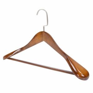 木製 ジャケットハンガー 45cm ズボン掛け ブラウン[rev17976]