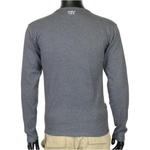 AVIREX Tシャツ 長袖 Uネック 無地 デイリー [ チャコールグレー / Mサイズ ][6123207019m]