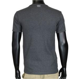 AVIREX 半袖Tシャツ 無地 デイリー ヘンリーネック [ チャコールグレー / Sサイズ ][6143504019s]