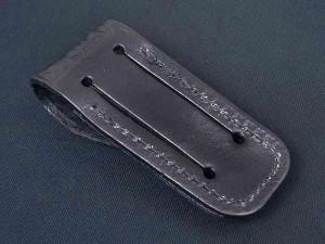 ナイフポーチ 革製 SH201 バスケットウェイブ ブラック[sh201]