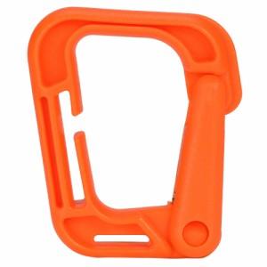 カラビナ D型 プラスチック製 [ オレンジ ][411809]