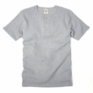 AVIREX 半袖Tシャツ 無地 デイリー ヘンリーネック [ グレー / XLサイズ ][6143504014xl]