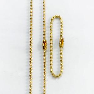 ボールチェーン 63cm ドッグタグ用 [ ゴールド ][rev61523]