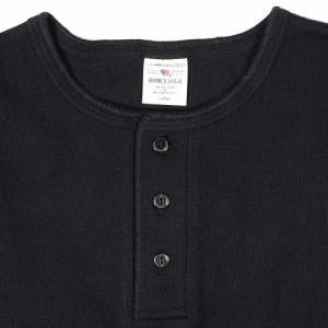 AVIREX 半袖Tシャツ 無地 デイリー ヘンリーネック [ ブラック / Lサイズ ][6143504009l]