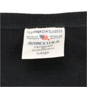 AVIREX タンクトップ 無地 デイリー ワイドバック [ ブラック / Sサイズ ][6143507009s]