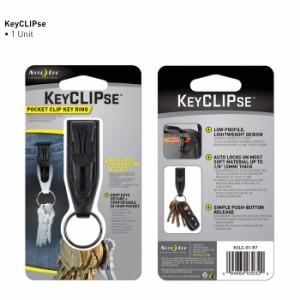 ナイトアイズ キーリング KEYCLIPSE ポケットクリップ付 KSLC-01[nikslc01r7]