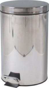 ステンレス ラウンドペダルペール 12L fj-78832  /ゴミ箱/分別/おしゃれ/ふた付き/屋外/キッチン/リビング/木/密閉/収納/北欧/インテ