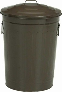 マルチダスト缶 49L ブラウン fj-90966  /ゴミ箱/分別/おしゃれ/ふた付き/屋外/キッチン/リビング/木/密閉/収納/北欧/インテリア/セー
