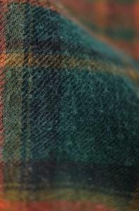 FREAK'S STORE(フリークスストア) チェック柄バンドカラーネルシャツ MEDIUM ブラウン × グリーン メンズ【バズストア 古着】【中古】