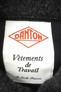 DANTON ウールモッサ ラウンドカラージャケット 38 ブラック メンズ【バズストア 古着】【中古】