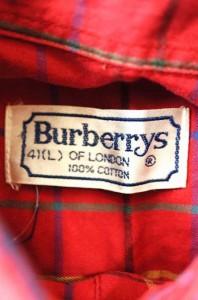 BURBERRYS(バーバリーズ) ロゴ刺繍チェック柄ボタンダウンシャツ サイズ[表記無] メンズ シャツ 【中古】【ブランド古着バズストア】【06