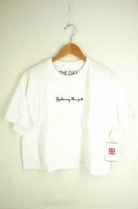 ザデイオンザビーチ THE DAY ON THE BEACH クルーネックTシャツ サイズ表記無 レディース 【中古】【ブランド古着バズストア】