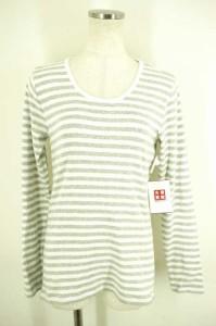 MUJI(無印良品) ボーダーカットソー サイズ[L] レディース Tシャツ・カットソー 【中古】【ブランド古着バズストア】【200817】